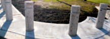 KPC steel and concrete bollards