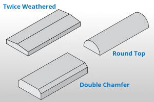 Precast concrete wall coping profiles