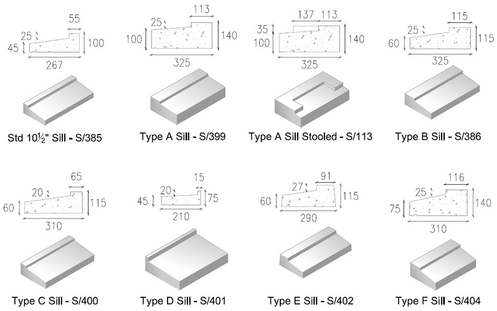 Precast Concrete Window Sills Wide Range Of Styles Kpc