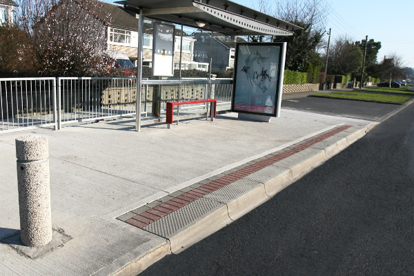 Bus Stop Kerbs Transition Raised Concrete Kerbs Kpc Uk