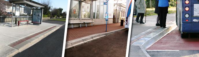 Bus Stop Kerbs Transition Raised Concrete Kerbs Kpc Uk