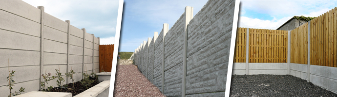 KPC Timber and Concrete Panel Fencing