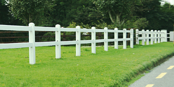 Post And Rail Fencing Creates Clean And Clear Boundaries