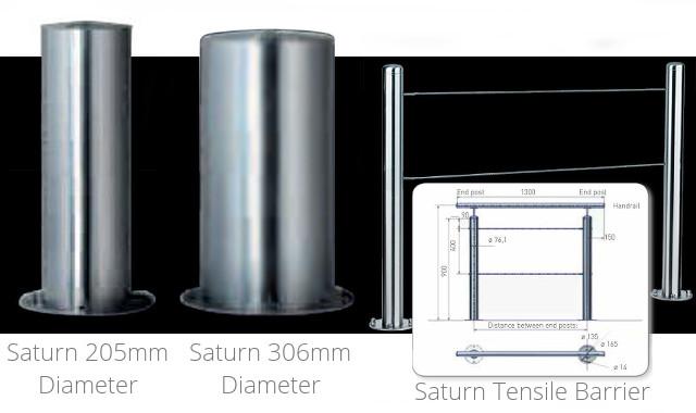 Saturn Steel Bollards 2 Kpc