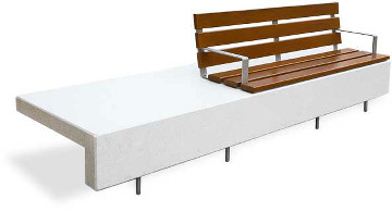 Ela Bench with Backrest