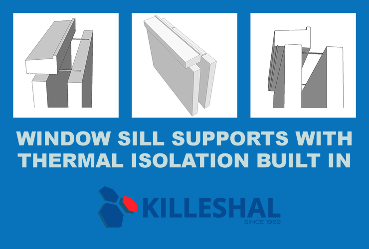 Window Sill Supports with Thermal Isolation Built In